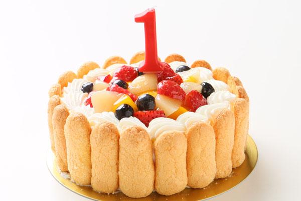 ファーストバースデーイチゴケーキ