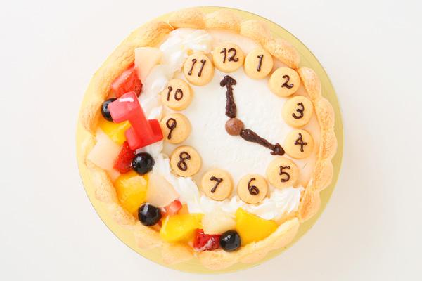 乳幼児用ヨーグルト時計ケーキ セミオーダー 4号 12cmの画像2枚目