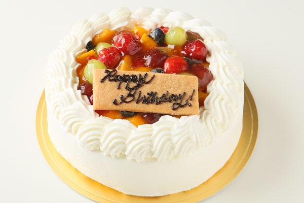 生クリームフルーツデコレーションケーキ 4号 12cm