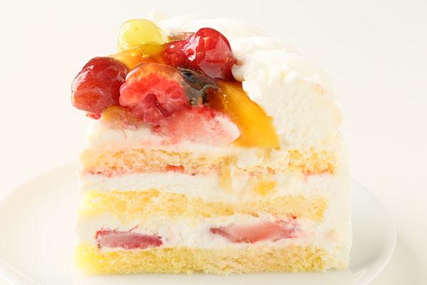 生クリームフルーツデコレーションケーキ 4号 12cmの画像4枚目