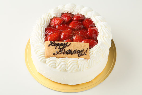 生クリーム苺デコレーションケーキ 6号 18cmの画像1枚目
