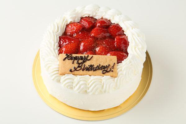 生クリーム苺デコレーションケーキ 5号 15cmの画像1枚目