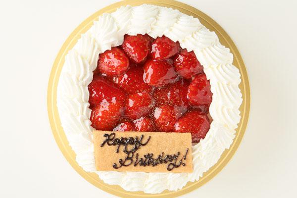 生クリーム苺デコレーションケーキ 4号 12cmの画像2枚目