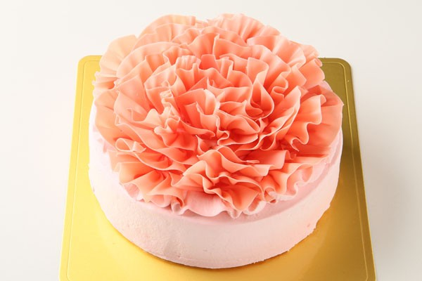 糖質制限!レアシュガーのフラワーショートケーキ4号の画像1枚目