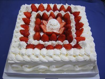 神奈川県横浜市南区配送限定 送料無料 パーティー用大型ケーキ 約24×24cm