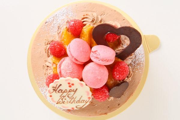 選べるクリーム シャンティ・ショコラ プチマカロン仕上げ 4号 12cmの画像2枚目