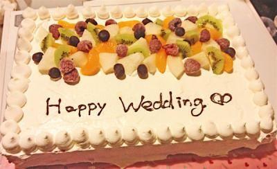 新潟県三条市近辺限定配送 送料無料 パーティー用大型ケーキ 31×23cm