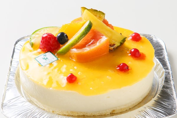青切りシークァサーのアイスケーキ