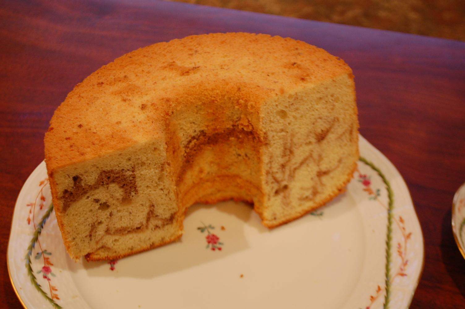 無添加 手作りシフォンケーキ [北海道産てんさい糖使用]【バナナココアマーブル】