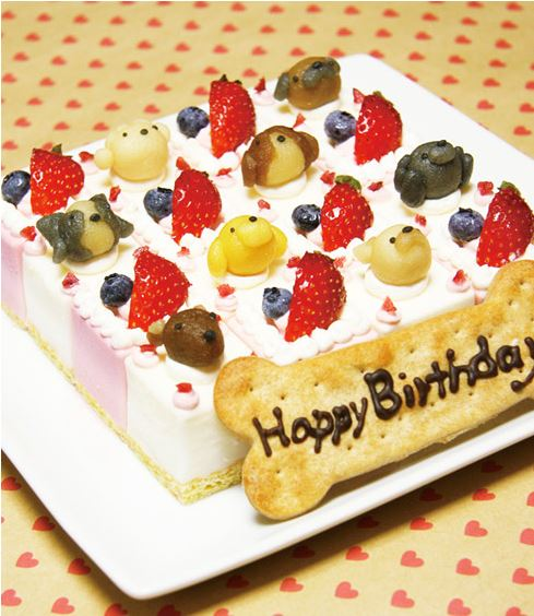 ピュアなレアチーズケーキ☆ハッピーキャレ 12×12cm