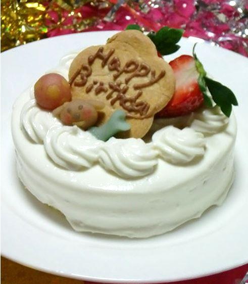 シンプルなショートケーキ☆ハッピーデコレーション・ホワイト 約9cmの画像2枚目