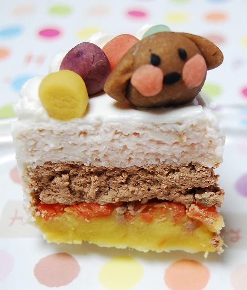 中・大型犬用☆ハッピーミート お肉のケーキ  オーダーオプション有り 12cmの画像3枚目
