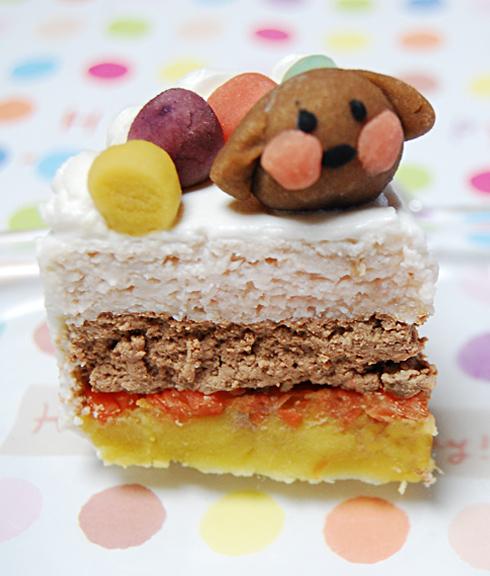 小型犬向け☆ハッピープチミート お肉のプチケーキ  オーダーオプション有り 約5cm×約7cmの画像2枚目