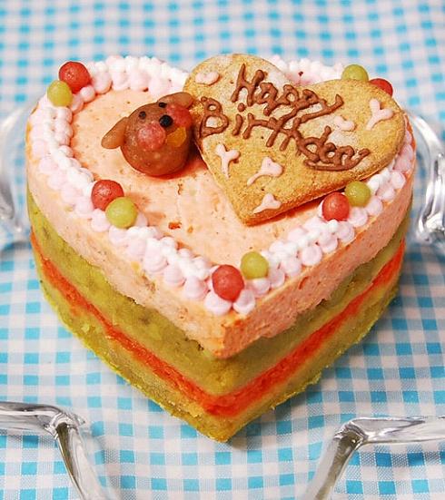 中・大型犬向け☆ハッピーLOVEフード お魚のケーキ 約11cm