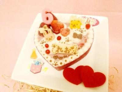 ◆ハートのプリティーprincess【馬肉】◆【犬用バースデーケーキ 犬用ケーキ 犬用おやつ ペット用バースデーケーキ ペット用ケーキ ペット用おやつ 犬用 ペット用 ケーキ おやつ】の画像2枚目