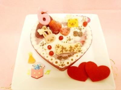 ◆ハートのプリティーprincess【馬肉】◆【犬用バースデーケーキ 犬用ケーキ 犬用おやつ ペット用バースデーケーキ ペット用ケーキ ペット用おやつ 犬用 ペット用 ケーキ おやつ】の画像3枚目