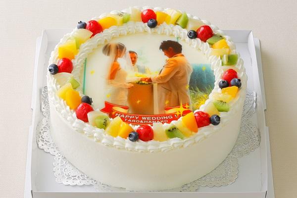 写真ケーキ小パーティ用 8号 24cmの画像1枚目