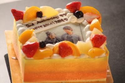 写真ケーキレアチーズ Sサイズ 15cm×15cm