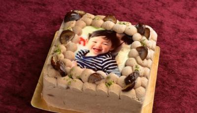 [写真ケーキ]モンブラン Sサイズ