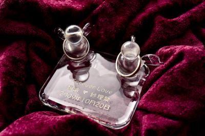 【ポイント10倍】リングピロー(スクエアシリーズ)【誕生日 贈り物 プレゼント ガラス ピングピロー】の画像3枚目