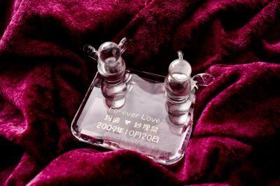 【ポイント10倍】リングピロー(スクエアシリーズ)【誕生日 贈り物 プレゼント ガラス ピングピロー】の画像4枚目