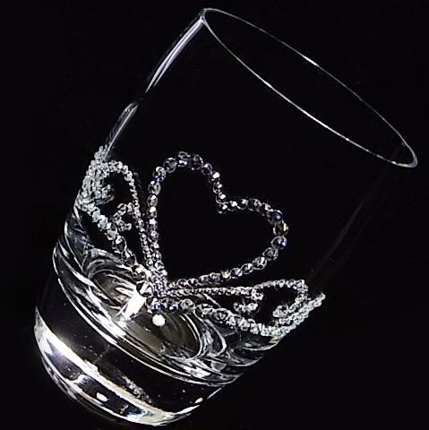 タンブラー ハートのティアラ 結婚祝い・誕生日プレゼント・デコグラス