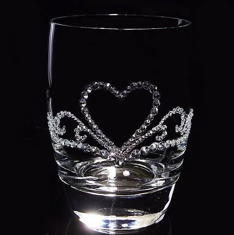 タンブラー ハートのティアラ 結婚祝い・誕生日プレゼント・デコグラスの画像2枚目