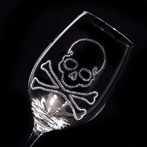 赤ワイングラス スカル 結婚祝い・誕生日プレゼント・デコグラス