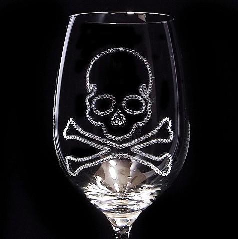 赤ワイングラス スカル 結婚祝い・誕生日プレゼント・デコグラスの画像2枚目