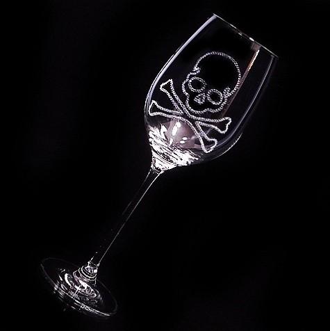 赤ワイングラス スカル 結婚祝い・誕生日プレゼント・デコグラスの画像3枚目