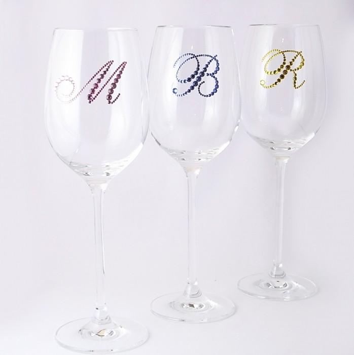 赤ワイングラス イニシャル 結婚祝い・誕生日プレゼント・デコグラスの画像7枚目