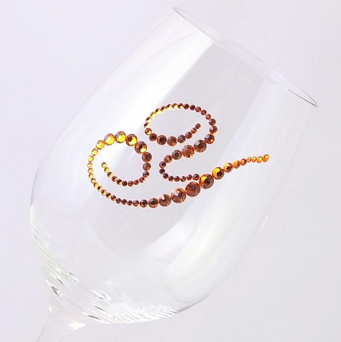 白ワイングラス イニシャル  結婚祝い・誕生日プレゼント・デコグラスの画像4枚目