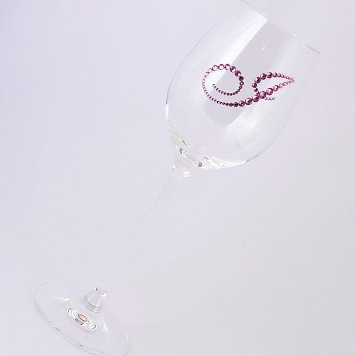 白ワイングラス イニシャル  結婚祝い・誕生日プレゼント・デコグラスの画像5枚目