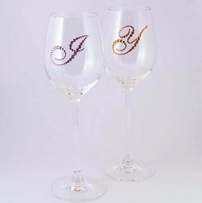 白ワイングラス イニシャル  結婚祝い・誕生日プレゼント・デコグラスの画像7枚目