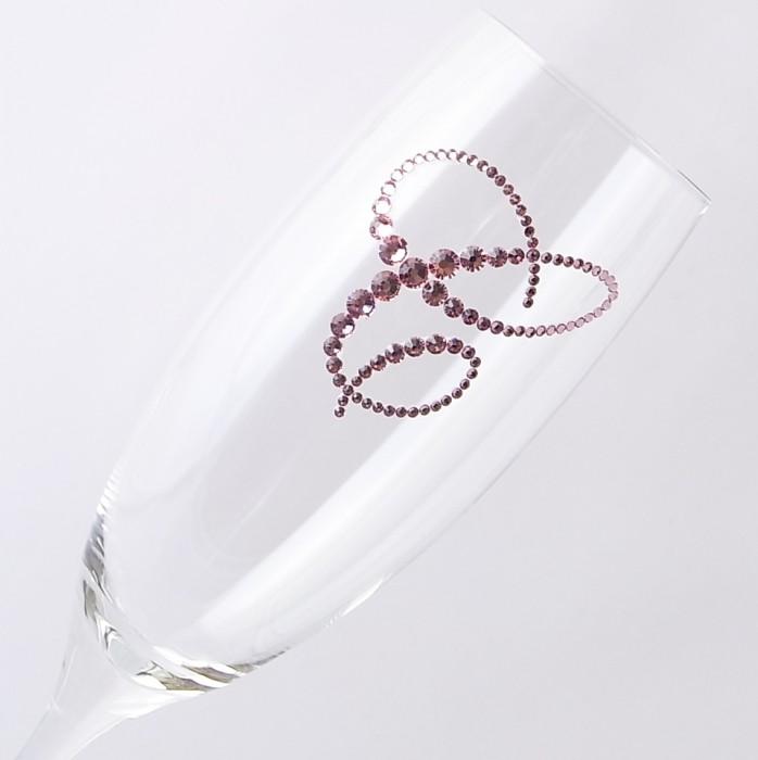 シャンパングラス イニシャル 結婚祝い・誕生日プレゼント・デコグラスの画像4枚目