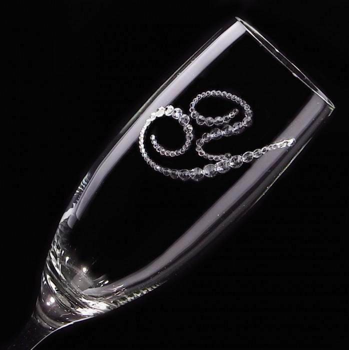 シャンパングラス イニシャル 結婚祝い・誕生日プレゼント・デコグラスの画像7枚目