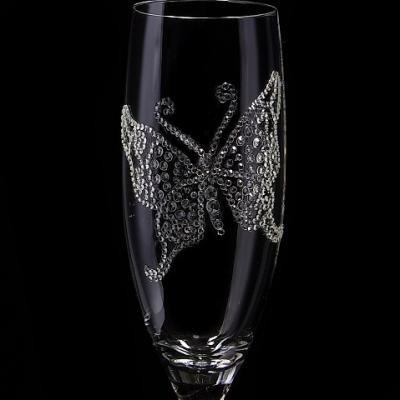シャンパングラス バタフライ  結婚祝い・誕生日プレゼント・デコグラスの画像4枚目