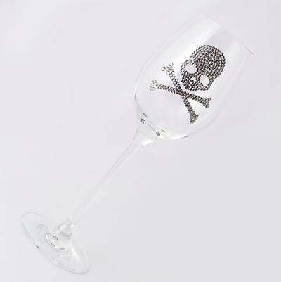 ワイングラス スカル フルデコレーション 結婚祝い・誕生日プレゼント・デコグラスの画像3枚目
