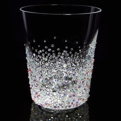 ロックグラス バブルシャワー 結婚祝い・誕生日プレゼント・デコグラスの画像2枚目