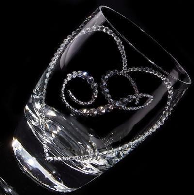 タンブラー オープンハート&イニシャル 結婚祝い・誕生日プレゼント・デコグラスの画像2枚目