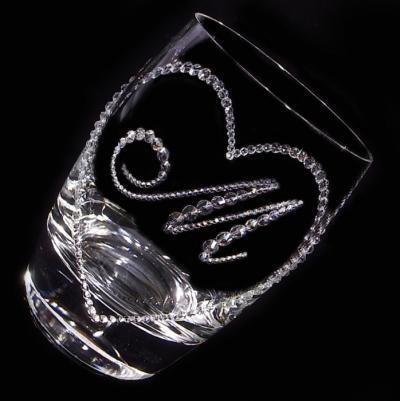 タンブラー オープンハート&イニシャル 結婚祝い・誕生日プレゼント・デコグラスの画像3枚目