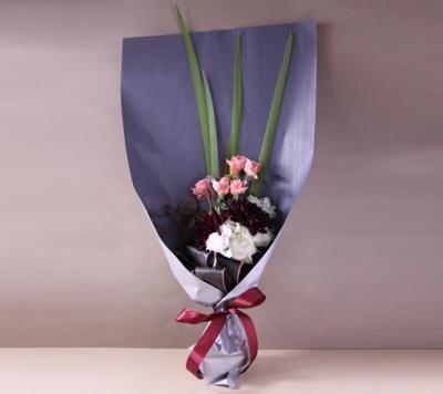 【ポイント10倍】【銀座花門】ワンサイドブーケM(ピンク)【花 フラワーギフト プレゼント お祝い 誕生日 贈り物】の画像3枚目