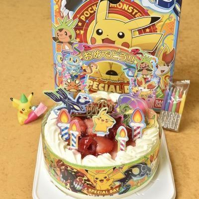 ポケットモンスター5号キャラデコケーキ(生クリーム苺デコ)/苺2段サンド