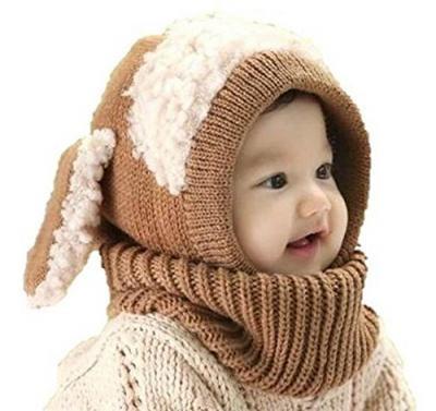 ウサギちゃん ニット帽子 赤ちゃん ベビー & キッズ 男の子 女の子