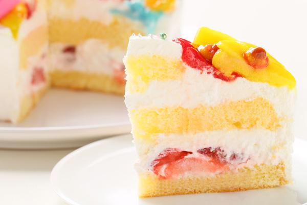 乳製品除去 デコもり。Happy 1st birthdaycake 豆乳クリーム 4号 12cmの画像5枚目