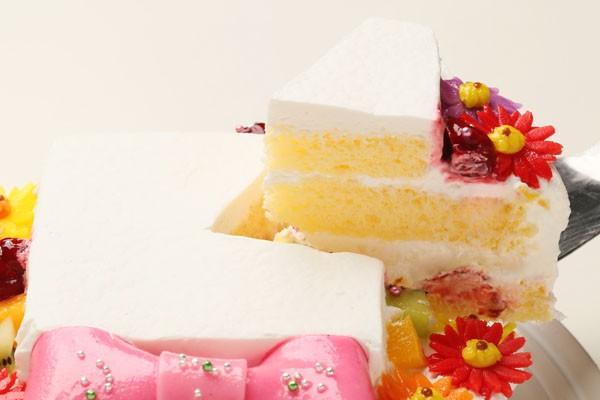 ファーストバースデーフォトケーキ(豆乳クリーム)【12cm 4号】の画像5枚目