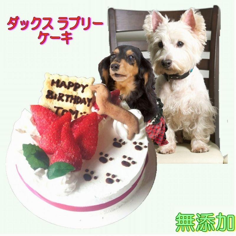 犬用ケーキ ダックス ラブリー ケーキ 無添加 4号 12cm