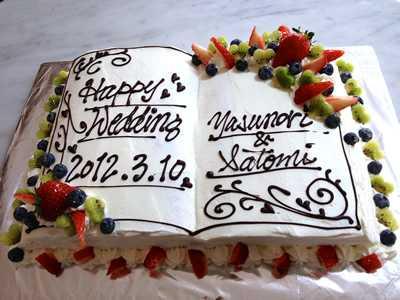 ブック型ケーキ 25×35cm
