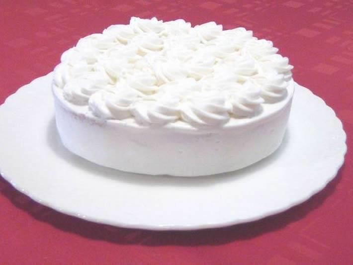 シェ・ワタナベ特製 卵・乳製品・小麦粉除去可能 ノンアレルギーケーキ クリームケーキ 直径約17cm