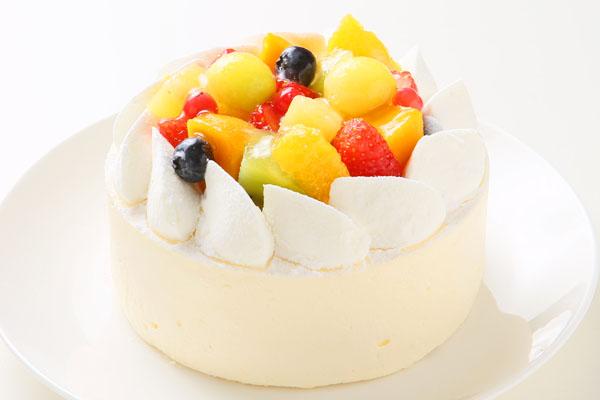 さっぱりレアチーズとマンゴーのアイスケーキ 4号 12cm